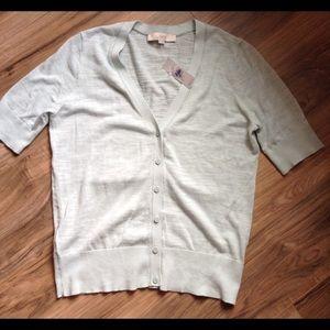 Loft Mint Short Sleeve Cardigan NWT Size M